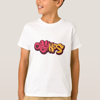 Clay Kids - Logo camiseta blanca