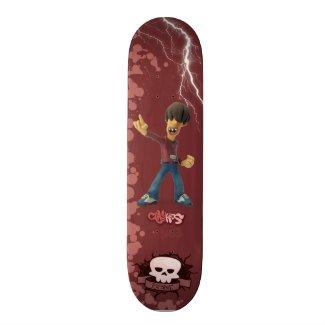 Clay Kids - Skateboard Robbie Monopatín 21,6 Cm