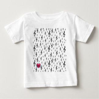 Clef agudo de los cursos de la vida musicales camiseta de bebé