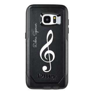 clef agudo, música personalizada funda OtterBox para samsung galaxy s7 edge