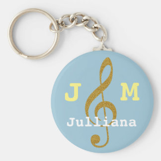 clef agudo musical femenino de encargo llavero