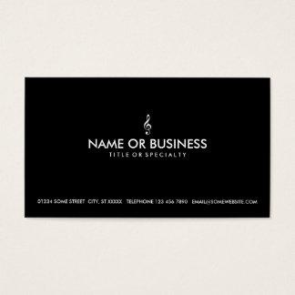 clef agudo simple tarjeta de negocios