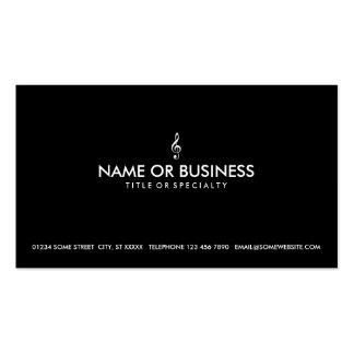 clef agudo simple plantilla de tarjeta de negocio