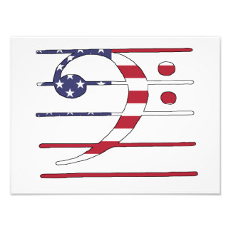 """Clef bajo """"bandera americana """" cojinete"""