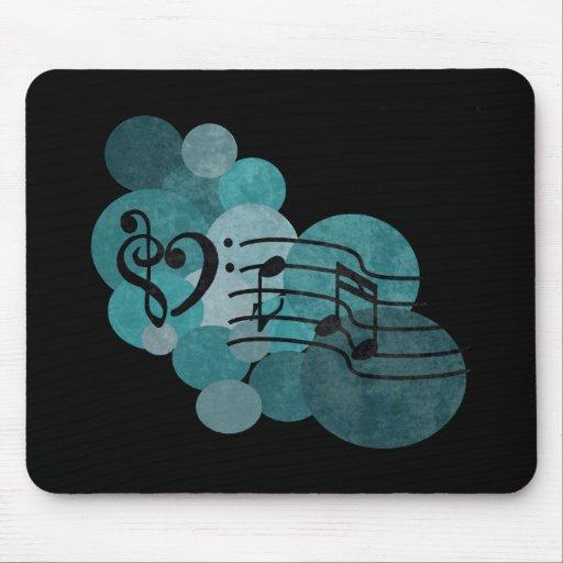 Clefs del corazón, nota musical y lunares - trullo alfombrilla de ratón