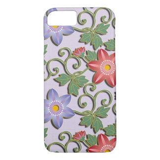 Clematis floral hermoso del arabesque funda iPhone 7