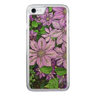 Clematis púrpura funda para iPhone 7