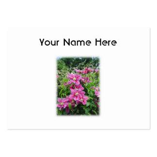 Clematis. Rosa bonito - flores púrpuras Tarjetas De Visita Grandes
