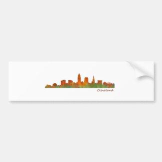 cleveland Ohio USA Skyline city v01 Pegatina Para Coche
