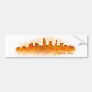 cleveland Ohio USA Skyline city v03 Pegatina Para Coche