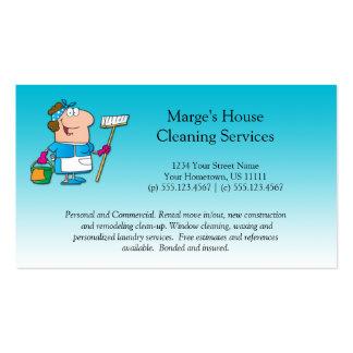 Cliente de la limpieza de la casa de la criada del tarjetas de negocios
