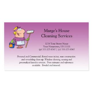 Cliente rosado de la limpieza de la casa de la tarjetas de visita