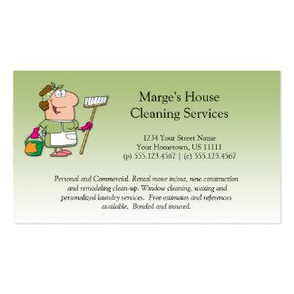 Cliente verde Loya de la limpieza de la casa de la Tarjetas De Visita