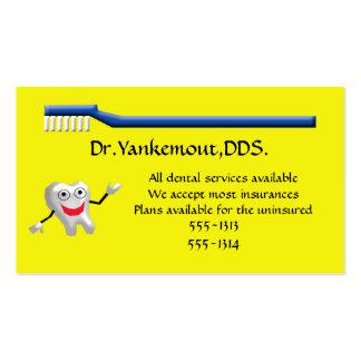 clínica dental plantilla de tarjeta personal