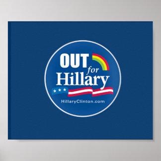 """Clinton """"hacia fuera"""" gay del poster"""