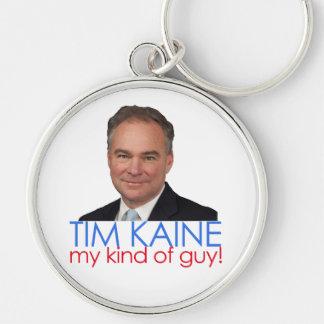¡Clinton Kaine - mi clase de individuo! Llavero Redondo Plateado