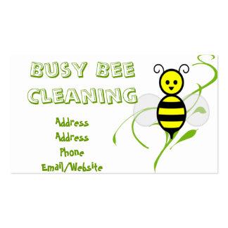 Clip art de la abeja ocupada tarjetas de negocios