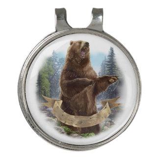 Clip del gorra del golf del oso grizzly y marcador
