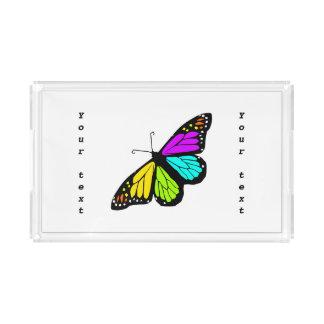 Clipart colorido de la mariposa bandeja acrílica