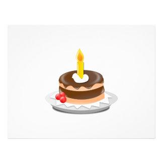 Clipart de la torta de cumpleaños tarjetones