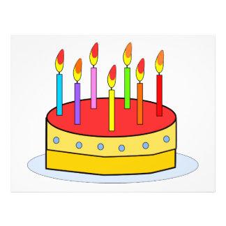 Clipart de la torta de cumpleaños tarjetas informativas