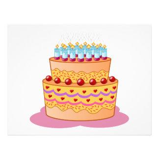Clipart de la torta de cumpleaños tarjetas publicitarias