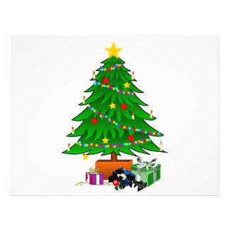 Clipart del árbol de navidad y de los regalos tarjeta publicitaria