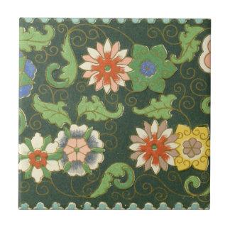 Cloisonne chino del modelo del vintage del modelo azulejo cuadrado pequeño