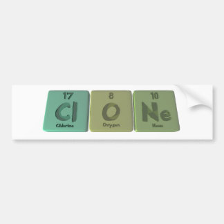 Clone-Cl-O-Ne-Chlorine-Oxygen-Neon.png Pegatina Para Coche