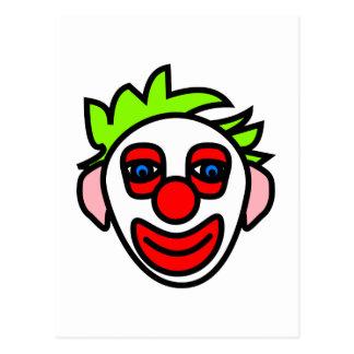clown clownsgesicht face tarjeta postal
