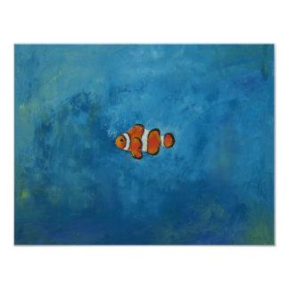 Clownfish Invitación 10,8 X 13,9 Cm