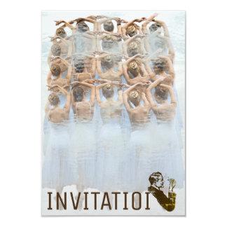 Club clásico del cigarro del festival de la invitación 8,9 x 12,7 cm
