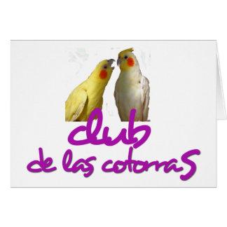 club Cotorras Tarjeta De Felicitación