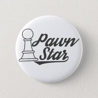 club de ajedrez de la estrella del empeño chapa redonda de 5 cm