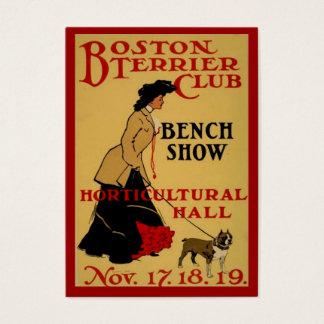 Club de Boston Terrier Tarjeta De Negocios