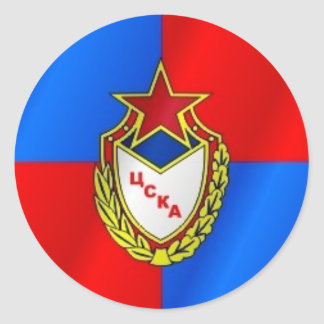 Club de deporte del ejército rojo pegatina redonda