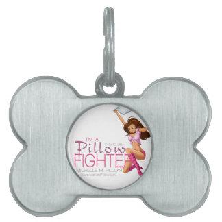 Club de fans de los combatientes de la almohada placas de nombre de mascota