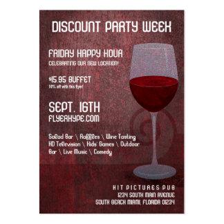Club de jazz del salón del bar de vinos del bombo tarjetas de visita grandes