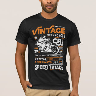 Club de la motocicleta del vintage camiseta