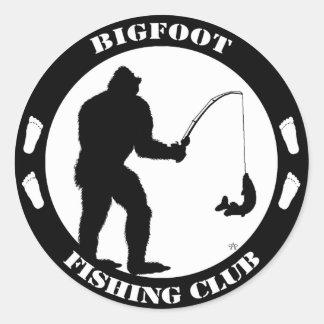Club de la pesca de Bigfoot Pegatina Redonda