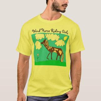 Club de los chicas del montar a caballo del viento camiseta