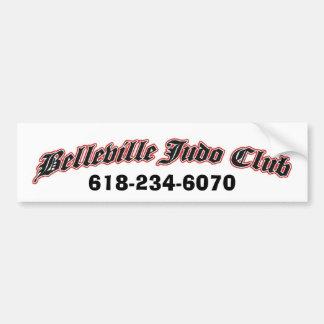 club del judo de Belleville, 618-234-6070 Etiqueta De Parachoque
