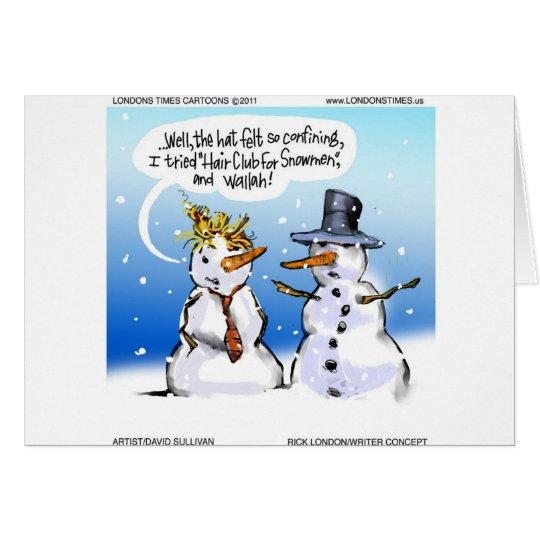 Club del pelo para el navidad divertido de los tarjeta de felicitación
