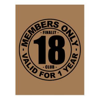 Club finalmente 18 postal