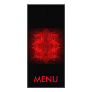 Club negro rojo Vip del restaurante del menú Lona Personalizada