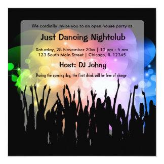 Club nocturno de la gran inauguración comunicados personales
