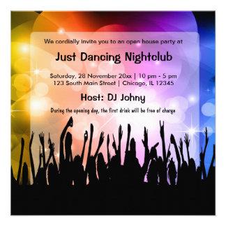 Club nocturno de la gran inauguración anuncios