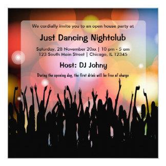 Club nocturno de la gran inauguración invitacion personal