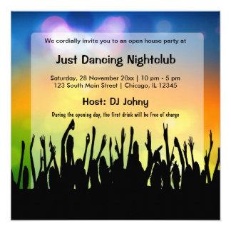 Club nocturno de la gran inauguración invitaciones personalizada