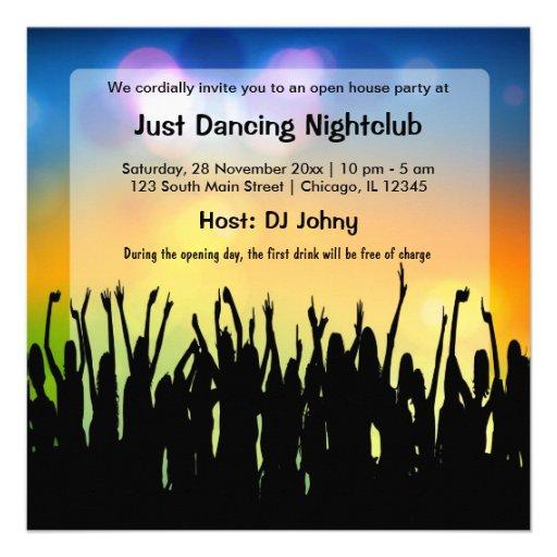Club nocturno de la gran inauguración comunicado